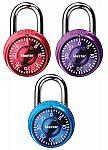 3 Pack Master Lock Mini Combination Padlock $5