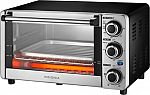 Insignia 1100W 4-Slice Toaster Oven (Stainless Steel) $20