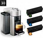 Breville Nespresso Vertuo Coffee and Espresso Maker  w/30 Pods $99.99