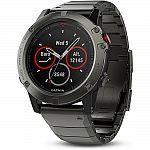 Garmin Fenix 5 Sapphire Multisport 47mm GPS Watch w/ Metal Band $370 & More