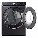 Samsung Electric Washer and Dryer Combo Black Stainless Steel $1556