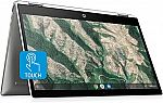"HP Chromebook X360 14"" HD Touchscreen Laptop (Celeron N4000, 4GB, 32GB eMMC, 14b-ca0010nr) $299.99"