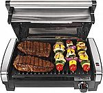 Hamilton Beach Electric Indoor Searing Grill with Viewing Window and Removable Nonstick Plate $49