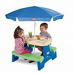 Little Tikes Easy Store Jr. Play Table with Umbrella $35.99