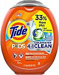 73-Count Tide Pods Coldwater Clean Liquid Laundry Detergent Pacs (Fresh Scent) $12.40 or Less
