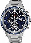 Seiko Men's Solar Chronograph Watch w/ Stainless Steel Bracelet $120