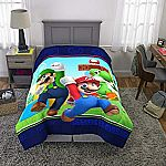 "Franco Kids Bedding Super Soft Comforter, Twin Size 64"" x 86 Mario $15.75"