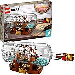 LEGO Ideas Ship in a Bottle 21313 $56 + $10 Gift Card & More