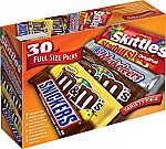 30-Ct Box Full Size (M&M'S, Snickers, 3 Musketeers & More) $13 + Free Shipping
