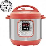 Instant Pot Duo RED 60 7-in-1 Multi-Use Programmable 6 QT Pressure $60 (Org $100)