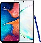 256GB Unlocked Samsung Galaxy Note 10+ Plus Phone w/Free Samsung Galaxy A20 (U.S. Warranty) $1099