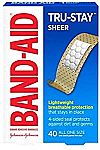 40-Count Band-Aid Brand Sheer Strips Adhesive Bandages $1.49