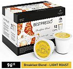 96-Count Bestpresso Coffee Single Serve K-Cups from $22.42