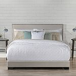 Hillsdale Willow Queen Nailhead Trim Upholstered Bed $99 Shipped (50% off)