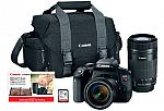 Canon EOS Rebel T7i DSLR Two Lens Kit with 18-55mm and 55-250mm Lenses $700