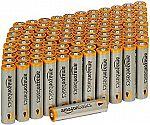 100-Pack AmazonBasics AAA Alkaline Batteries $16.16