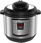 Instant Pot LUX80 8 Qt 6-in-1 Multi- Use Programmable Pressure Cooker $55