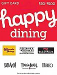 $50 Happy Gift Card - Dining $42.50