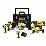 DEWALT 20V MAX Li-Ion Cordless Combo Kit (8-Tool) w/ 3 Batteries and ToughSystem Box $499 and more