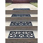 Set of 4 AmeriHome 9 in. x 30 in. Rubber Scrollwork Stair Tread Cover $17 (Org $29), Wood Flooring Up to 30% Off+ Free Shipping
