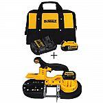 DEWALT 20V Cordless Band Saw + Battery Pack & Charger $199