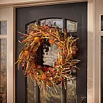 "Home Accents Holiday 30"" Harvest Lantern Wreath & 24"" Door Swag $10 + Free Shipping & More"