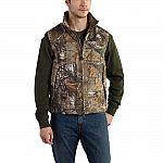 Carhartt Men's Regular Large Realtree Xtra Cotton/Polyester Vest $44 and more work clothes sale