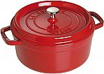 Staub Cast Iron Round Cocotte, 4-Quart $85