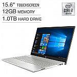 "HP Pavilion 15.6"" Touchscreen Laptop (i7-1065G7 12GB 1TB) $600"