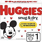 Extra $15 Off $75+ Huggies: 2 x 264ct Huggies size 1 Snug & Dry Diapers  $54 and more
