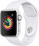Apple Watch Series 3 (GPS, 38mm, Silver Case w/ White Sport Band) $170