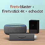 Fire TV Blaster bundle with Fire TV Stick 4K and Echo Dot (3rd Gen) $79.99