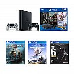 Sony PlayStation 4 1TB Console Bundle Only on PlayStation PS4 + DualShock 4 Wireless $234