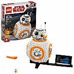 LEGO Star Wars TM BB-8 75187 Building Set (1106 Pieces) $58 (Org $100)