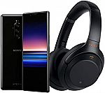 Sony Xperia 1 128GB Alexa Hands-Free Unlocked Smartphone and WH1000XM3 Wireless Noise Cancelling Heaphones bundle $899