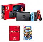 Nintendo Switch 32GB Console + Crash Team Racing Nitro Fueled + 12 Month Family Membership $299.19