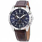 Citizen Men's Eco-Drive Titanium Quartz Brown Leather Watch (Model: BL5551-06L) $126