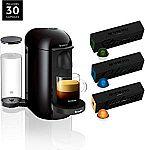 Nespresso VertuoPlus Coffee and Espresso Maker + 30 Coffee Capsules $100