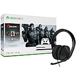 XBox One S 1TB Gear 5 Bundle + XBox One S Stereo Headset Bundle $138 + Get 20% Back in points