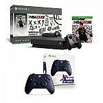 Xbox One X 1TB NBA 2K19 Console Bundle + Wireless Controller Fortnite Edition 299.99
