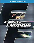 Fast & Furious 7-Movie Collection [Blu-ray + Digital HD] $13