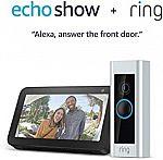 Ring Video Doorbell Pro with Echo Show 5 $179, Doorbell 2 w/ Echo Show 5 $139