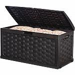 Starplast 88 Gal. Plastic Black Rattan Deck Box $47