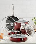 Belgique Aluminum 11-Pc. Cookware Set $90 (Org $300)