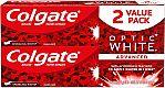 2-Pack Colgate Optic White Whitening Toothpaste, Sparkling Mint 5oz $5.25