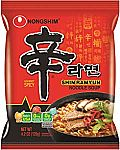 20-Pack Nongshim Shin Ramyun Noodle Soup Gourmet Spicy $16.47