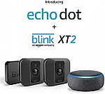 Blink XT2 Outdoor/Indoor Smart Security Camera 1 camera kit + Free Echo Dot $74.99, 2-Camera Kit + Echo Dot $135