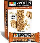 12 Count KIND Protein Bars, Crunchy Peanut Butter, Gluten Free, 12g Protein,1.76 Ounce $7.13