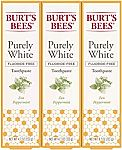 3-Ct of 4.7-oz Burt's Bees Zen Peppermint Whitening Fluoride Free Purely White Toothpaste $8