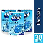 30-Count 4oz Dial Antibacterial Bar Soap (Spring Water) $9.04